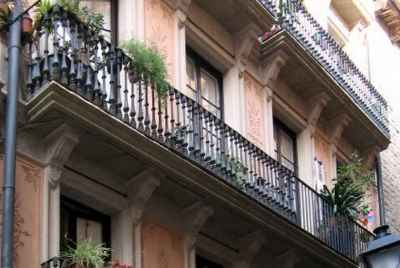 Residential building in Barcelona, currently used for tourist apartments